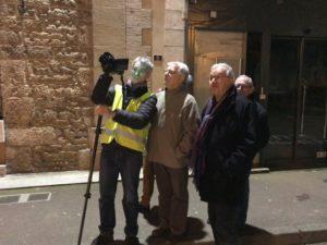 Elus à la balade thermique de Pouilly le 25/01/2018