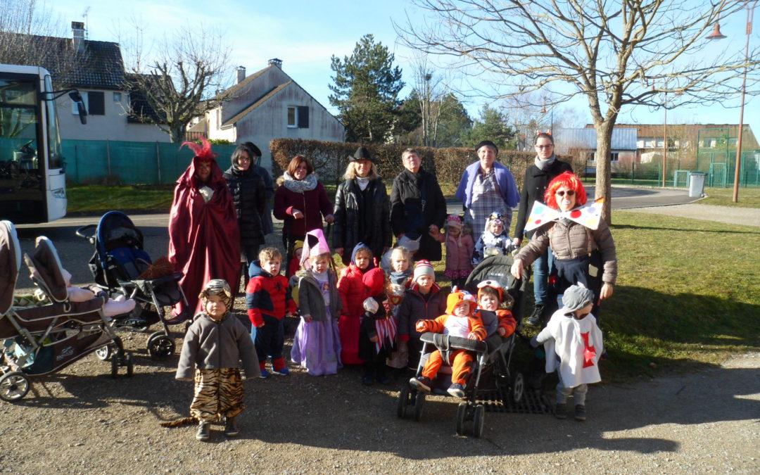 Le relais petite enfance de Bligny à fêté Carnaval avec l'école