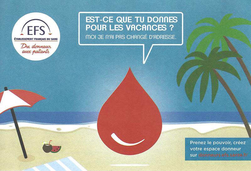 Affiche collecte de don de sang à Bligny sur Ouche