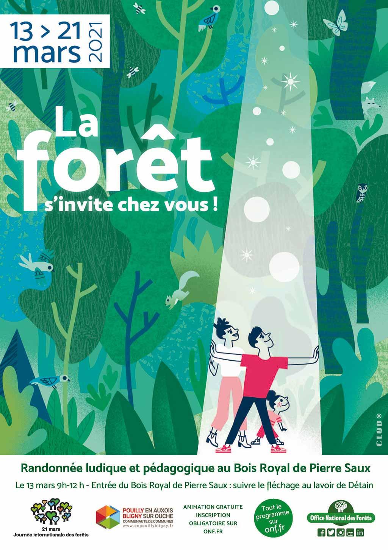 La forêt s'invite chez vous, balade commentée du Bois royal de Pierre Saux à Détain et Bruant
