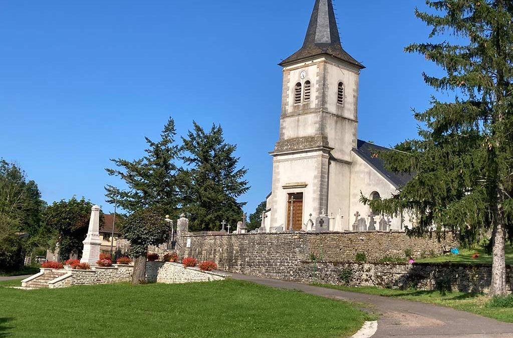Vue sur l'église de Painblanc